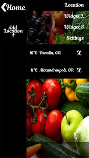čerstvá zelenina widgetu Hodin - náhled
