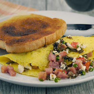 Loaded Veggie Omelet