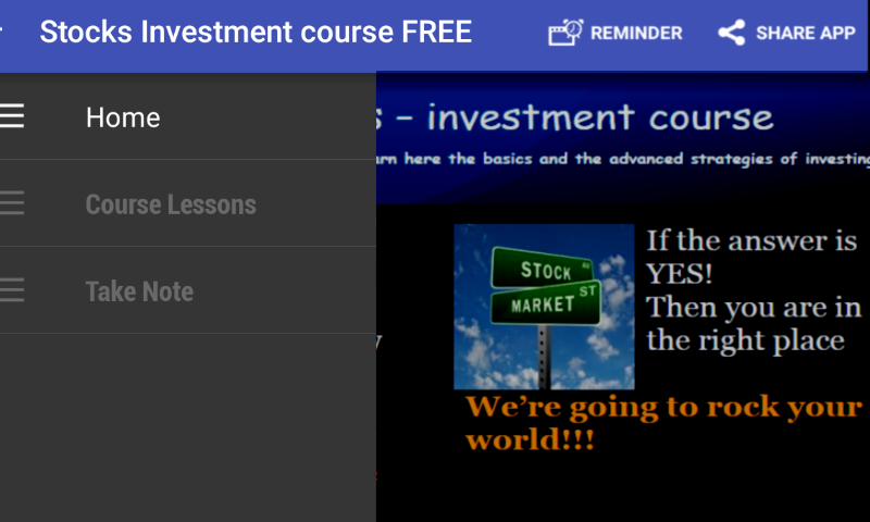 Stocks Investment course- screenshot