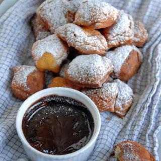 Beignets with Dark Chocolate Espresso Sauce.