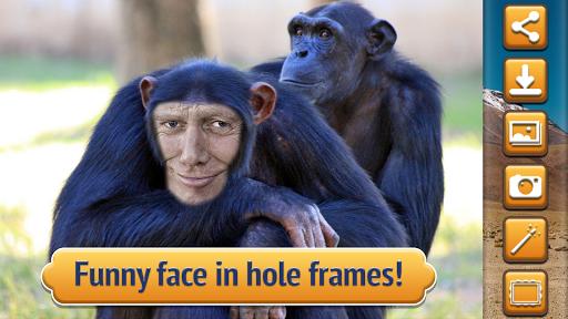 動物の顔 フォト モンタージュ