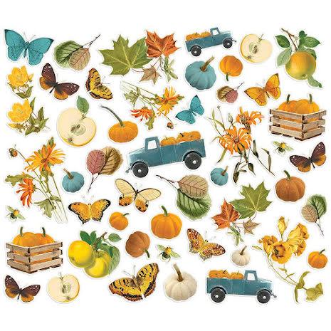 Simple Stories Bits & Pieces Die-Cuts 48/Pkg - SV Country Harvest Harvest