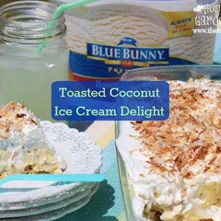 Toasted Coconut Ice Cream Delight