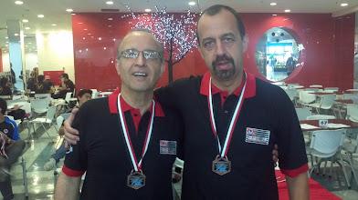 Photo: Franz Monteiro & Celso Azevedo (BRONZE nas duplas masculinas 1.ª divisão)