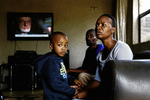 Gregory and Cherren Louw with their son Quewin, 3, who survived an outbreak of listeriosis at a creche.