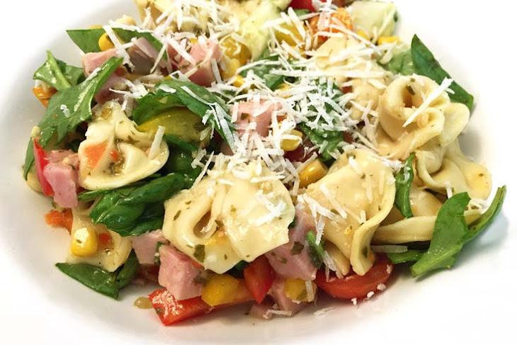 Fresh Garden Tortellini Salad with Ham Recipe