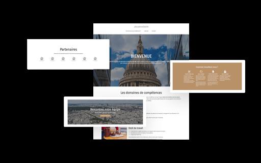 Template création site web