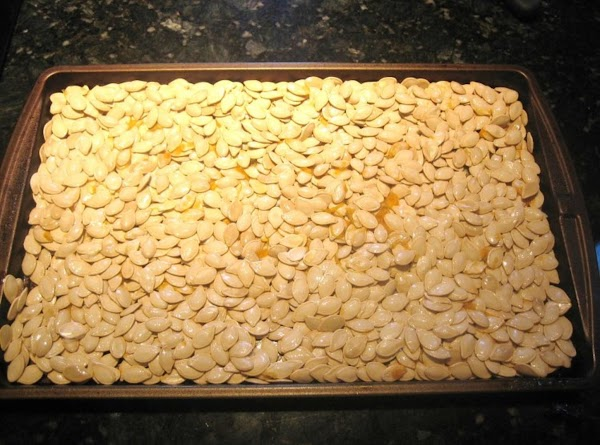 Roll out seeds onto baking sheet & spread out evenly.