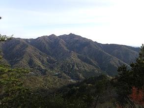 釈迦ヶ岳を望む