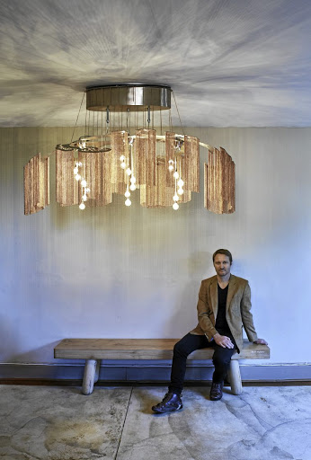 Designer Adam Hoets with his Elongated Faraway Tree