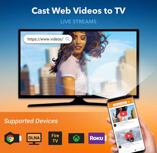 Cast to TV : Chromecast, Roku, Fire Stick, Xbox 1.0.4.2 screenshots 1