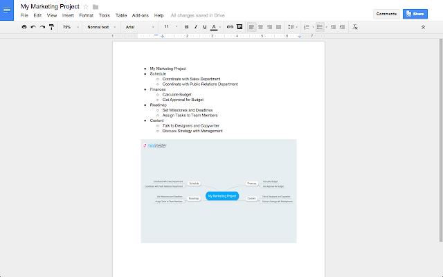 MindMeister Google Docs Addon - Public google docs