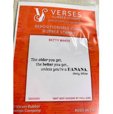 Verses Rubber Stamps - Betty White