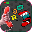 Voice changer in call &Rec icon