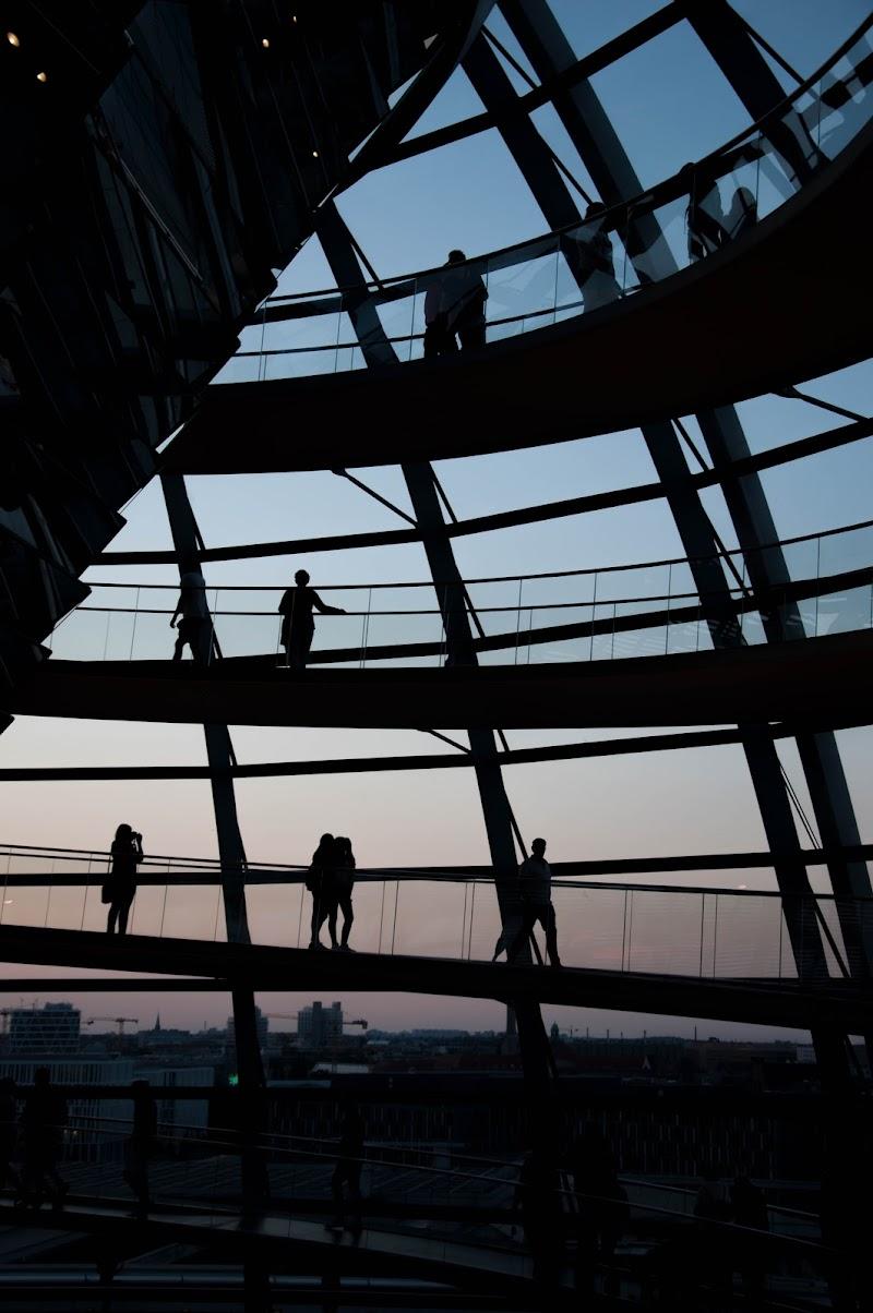 Sulla cupola al tramonto di Giomi