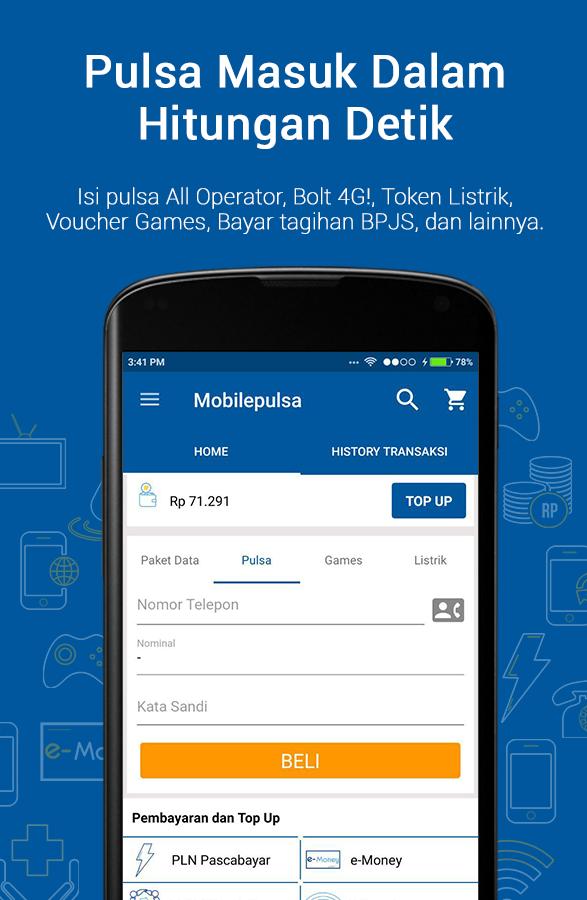 Mobilepulsa - Isi Kuota dan Pulsa Online - Android Apps on ...