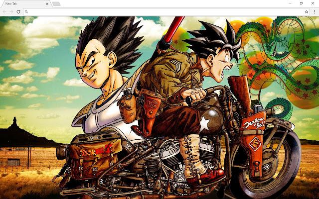 Dragon Ball Z DBZ New Tab & Themes