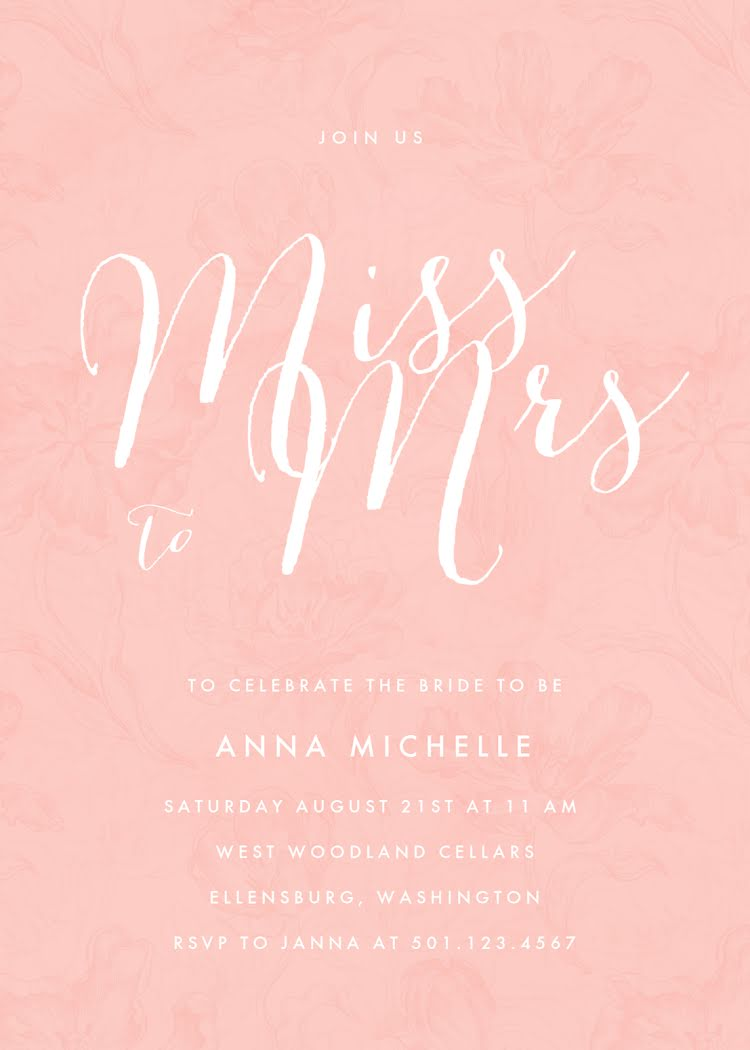 Miss to Mrs. - Bridal Shower Template