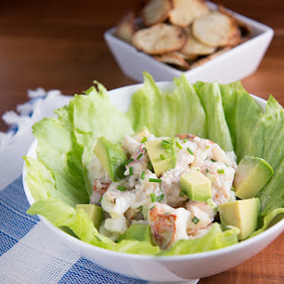 Lobster salad With Taro Chips.