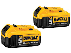 CLEARANCE - DeWalt 20V MAX Battery - 5.0 Ah (2 Pack)