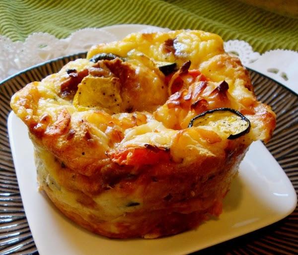 Roasted Veggie Souffle W/  Cilantro Lime Sauce Recipe