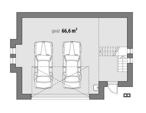 DD-G6 - Rzut garażu