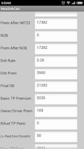 NIA Motor Premium Calculator Apk Latest Version Download For Android 2