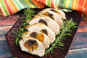 Pork Loin Stuffed with Dried Figs and Apricots