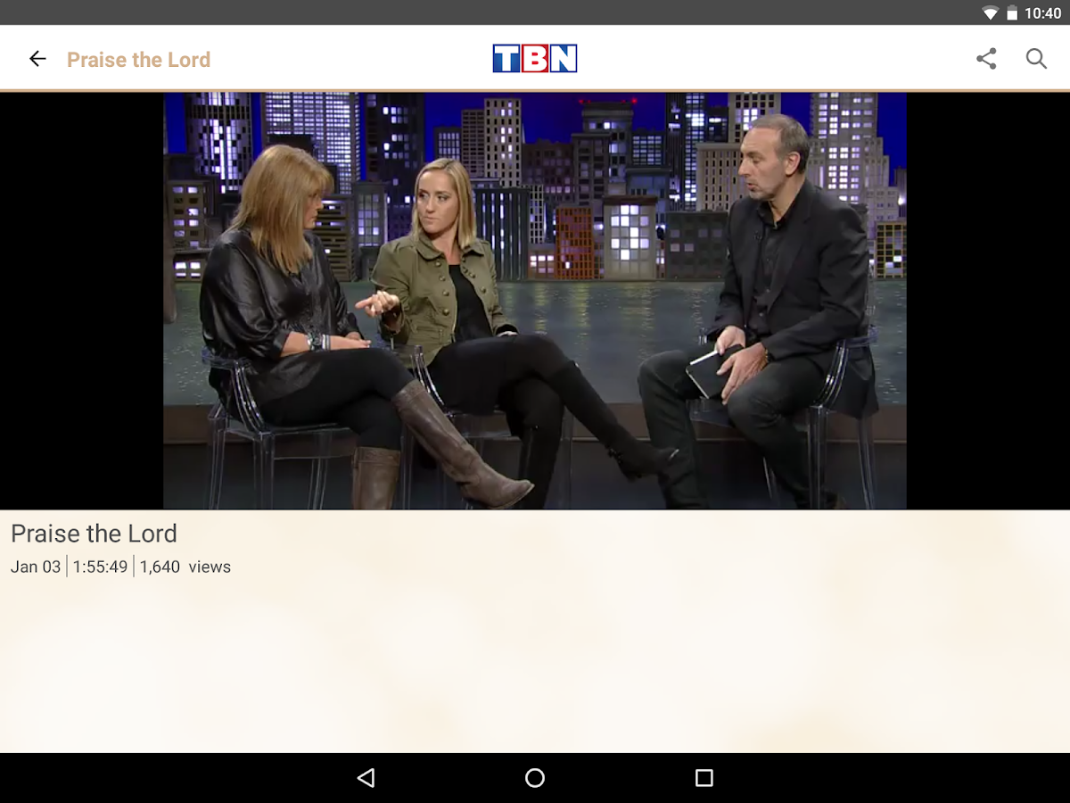 TBN: Watch TV Shows & Live TV- screenshot