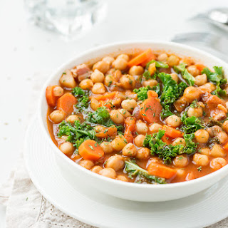 Kale and Chickpeas Minestrone.