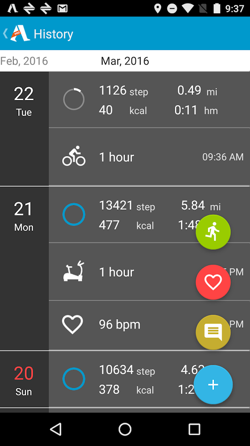 Accupedo Pedometer- screenshot