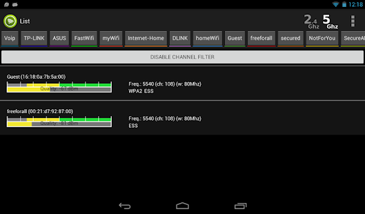 Wifi Analyzer Pro Screenshot