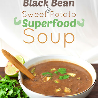 Black Bean & Sweet Potato Superfood Soup