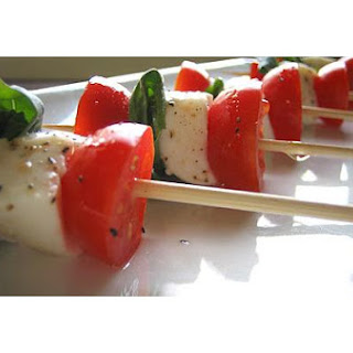Skewered Insalata Caprese.
