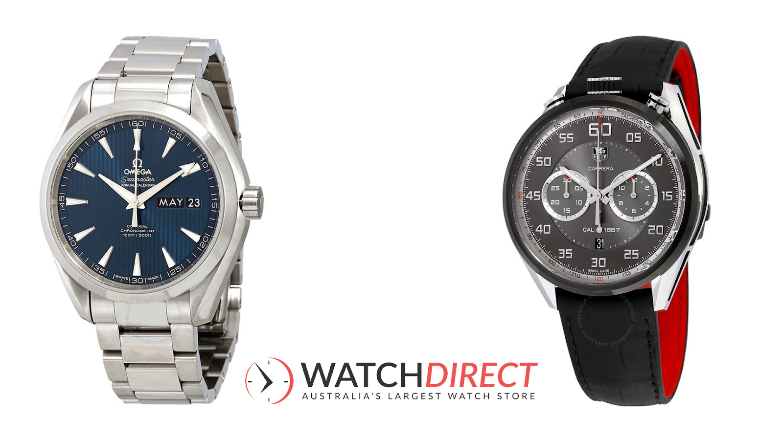 It's a designer thing, darling, with theTag Heuer Carrera Automatic Chronograph Black Dial Black Leather Men's Watch and Gucci G-Timeless Automatic Silver Dial Men's Watch.