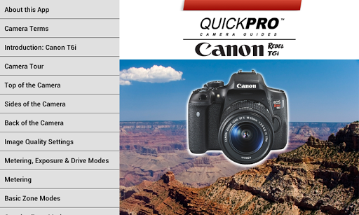 Canon T6i Control by QuickPro