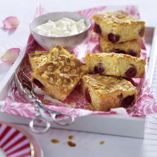 White Chocolate, Cherry and Carrot Blondies