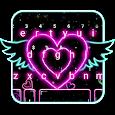 Neon Heart Wings Keyboard Theme