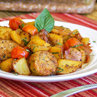 30-Minute Hearty Italian Sausage and Potatoes.