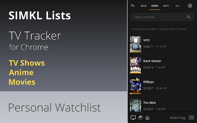 Simkl Lists: TV, Anime, Movies - TV Tracker