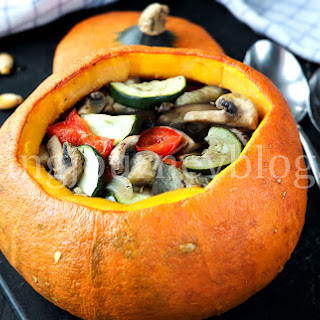Stuffed pumpkin – Baked vegetables.