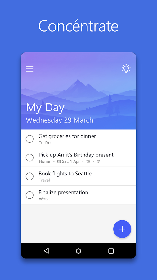 Microsoft To-Do: captura de pantalla