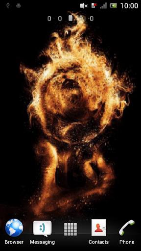 Fiery ball Live Wallpaper