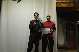 Photo: A győztes Defekt-Esek csapat a vándorkupával.