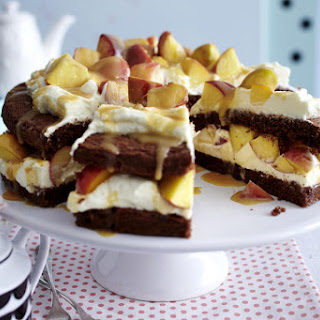 Chocolate, Peach and Caramel Cake Recipe