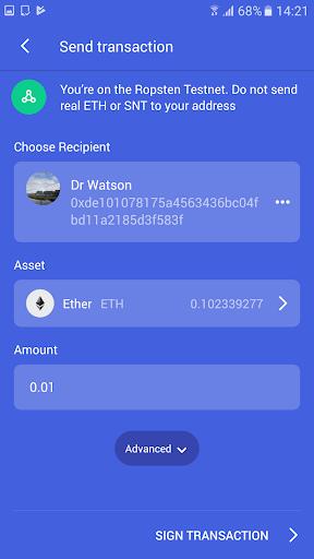 Status — Ethereum. Anywhere. 0.12.2 screenshots 2