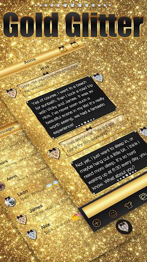 玩個人化App|Gold Glitter Emoji Keyboard免費|APP試玩