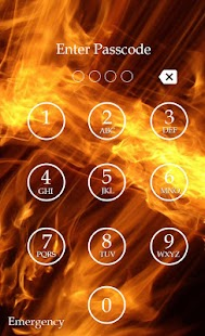 Fire Keypad Screen Lock Theme screenshot
