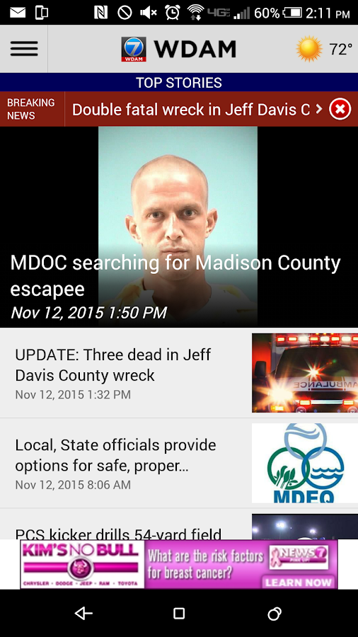 WDAM Local News- screenshot