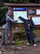 Photo: Chris: Garibaldi Lake is here Emily: But our campsite is here